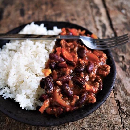 Chili sin carne accompagné de riz basmati (460 g)