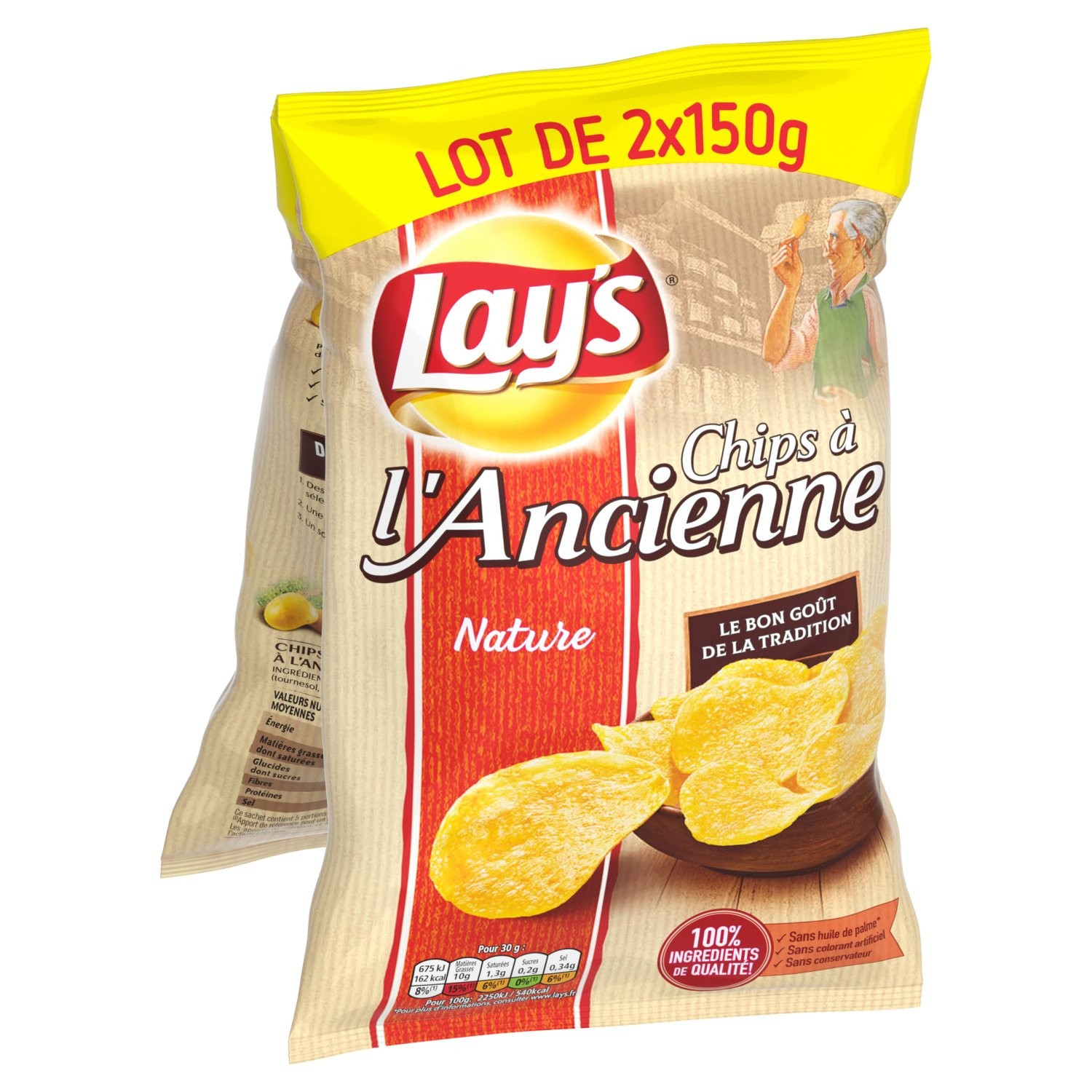 Chips à l'ancienne, Lay's LOT DE 2 (2 x 150 g)