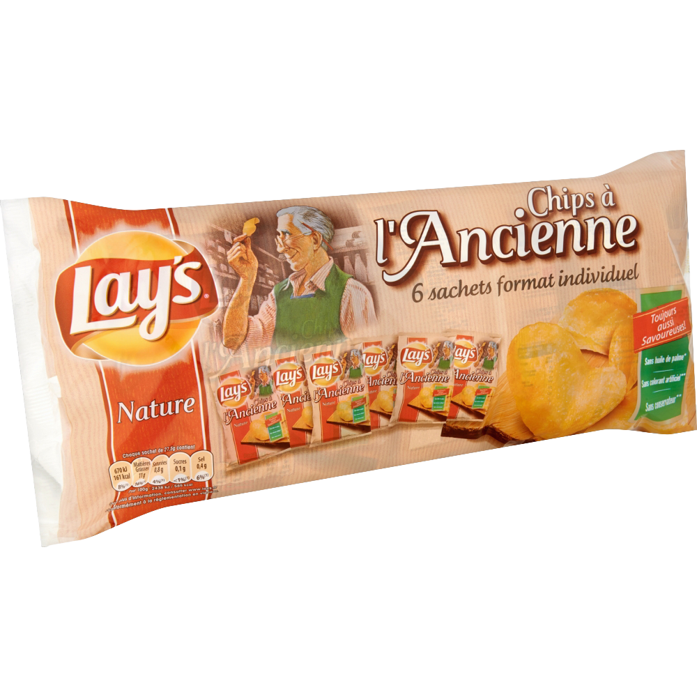 Chips à l'ancienne, Lay's (6 x 27,5 g)