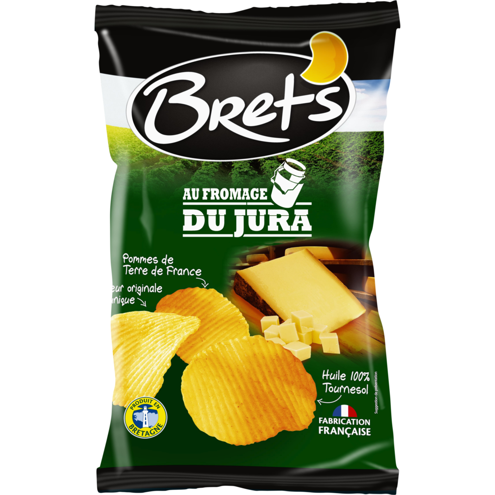 Chips ondulées au fromage, Bret's (125 g)