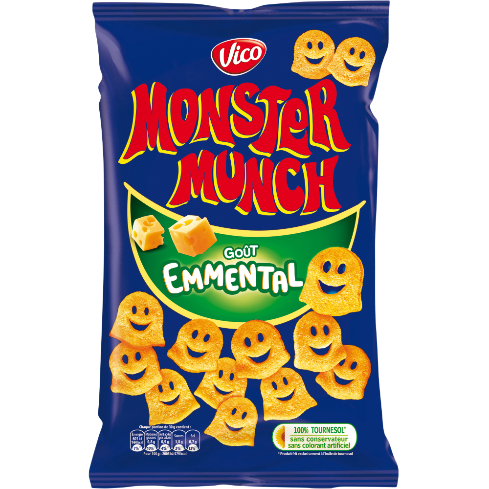Monster Munch goût emmental, Vico (85 g)