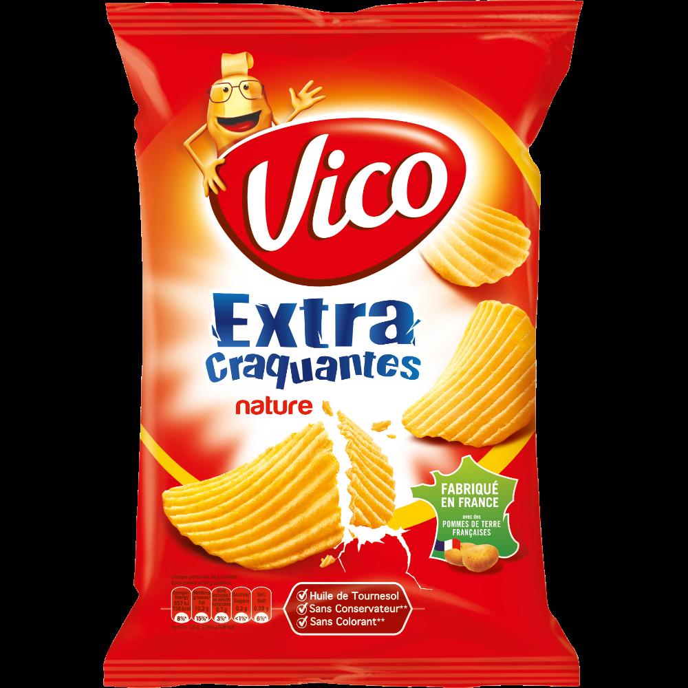 Chips extra craquantes nature ondulées, Vico (135 g)
