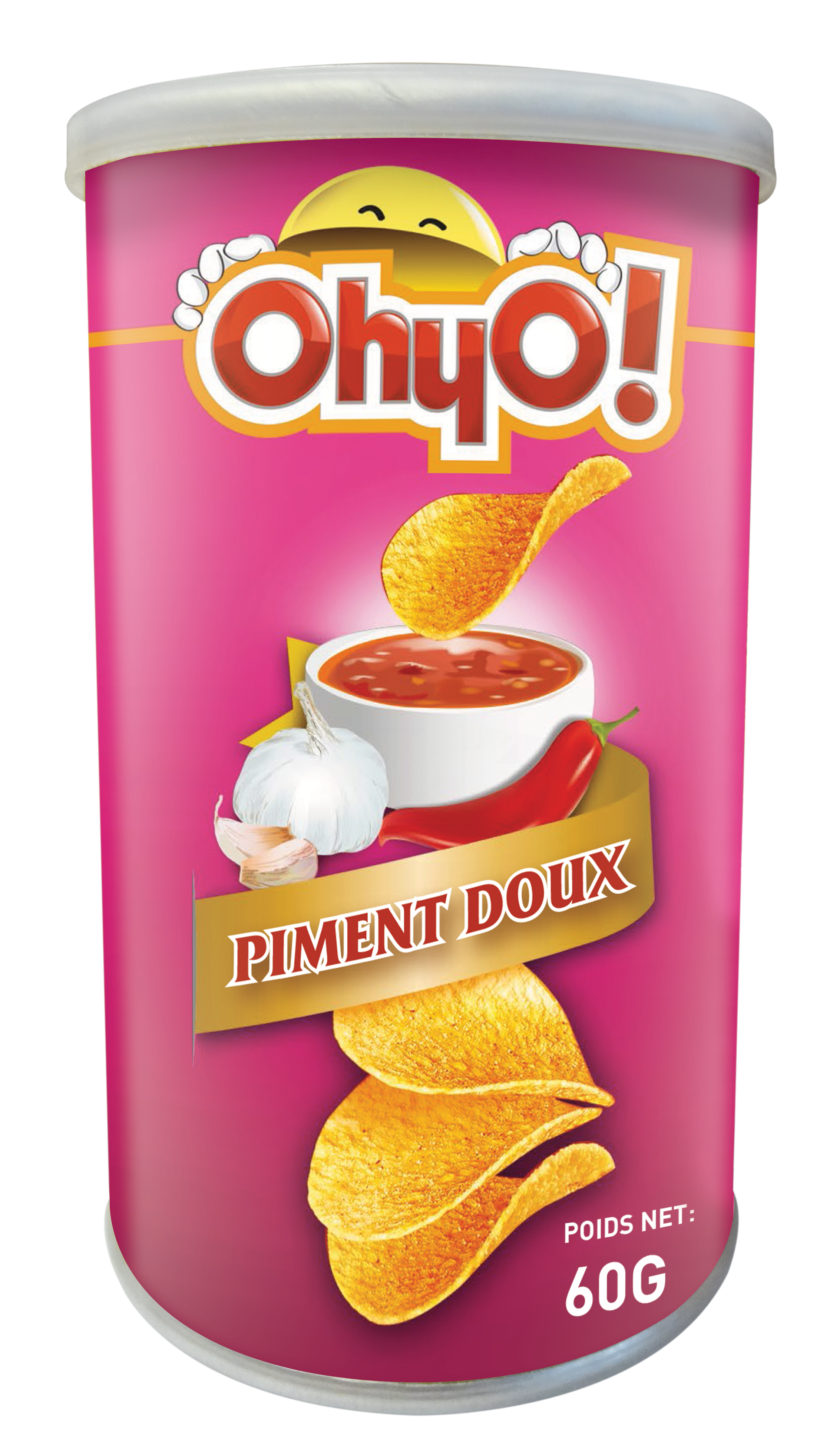 Chips saveur piment doux, Ohyo! (60 g)