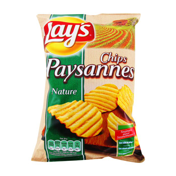 Pack de 6 - Chips paysannes nature, Lay's (6 x 150 g)