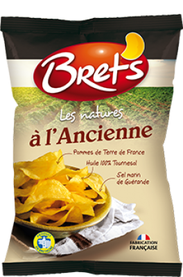 Pack de 6 - Chips à l'ancienne au sel de Guérande, Bret's (6 x 125 g)