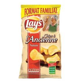 Pack de 6 - Chips à l'ancienne nature, Lay's (6 x 300 g)