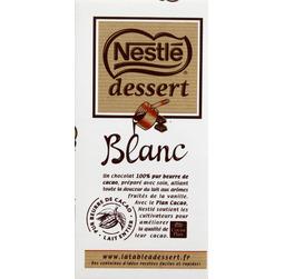 Chocolat blanc à pâtisser Nestlé dessert (180 g)