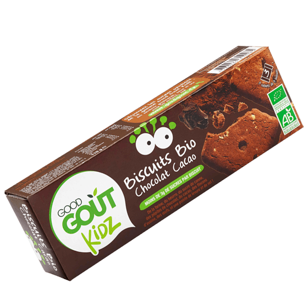 Biscuits Chocolat Cacao BIO - dès 3 ans, Good Goût Kid'z (110 g)