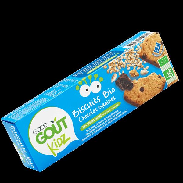 Biscuits Chocolat Sésame Tournesol BIO - dès 3 ans, Good Goût Kid'z (110 g)