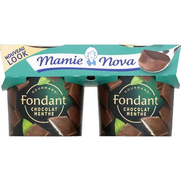 Dessert Fondant chocolat/menthe, Mamie Nova (2 x 150 g)