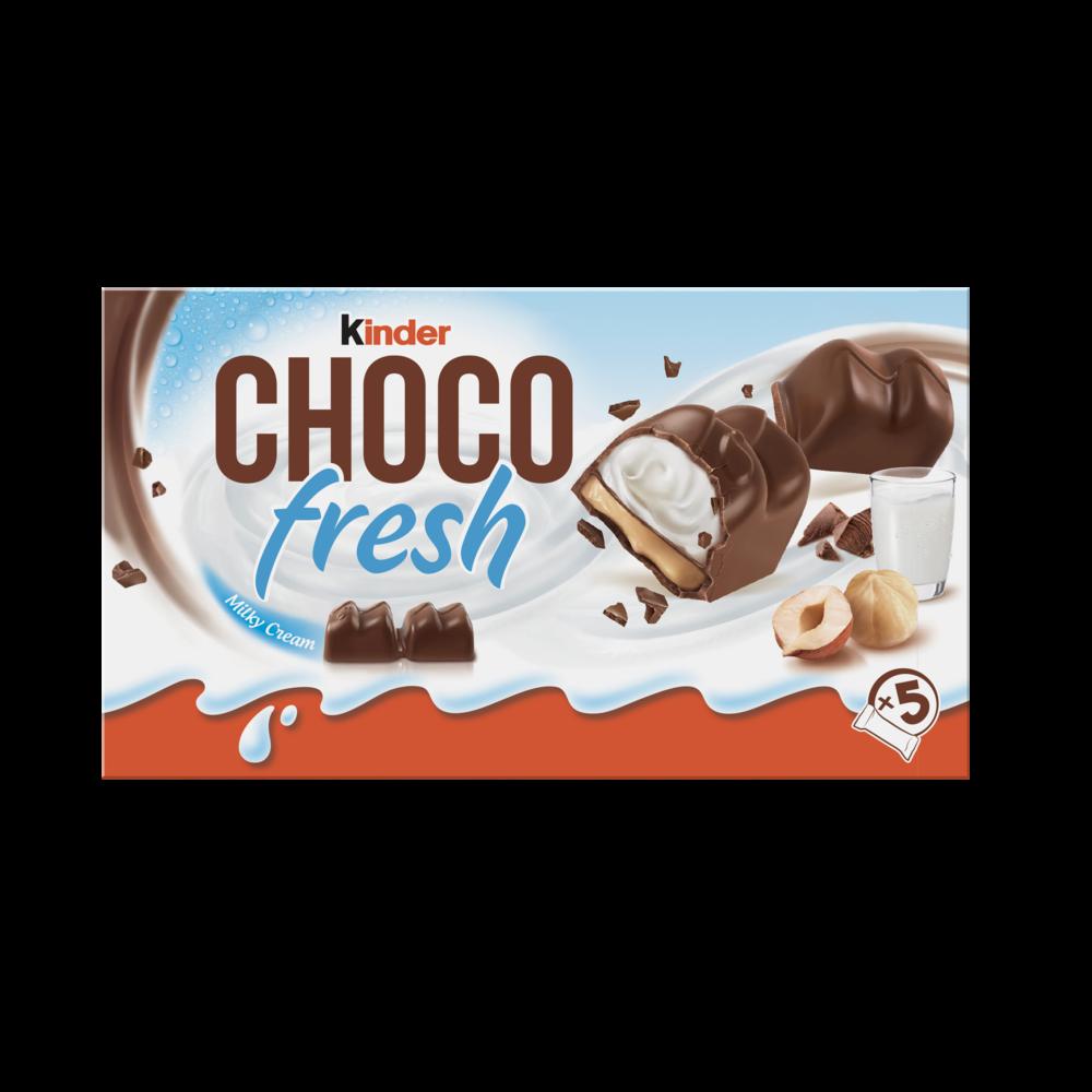 Choco Fresh fourré lait et noisette KINDER étui x5 (102 g)