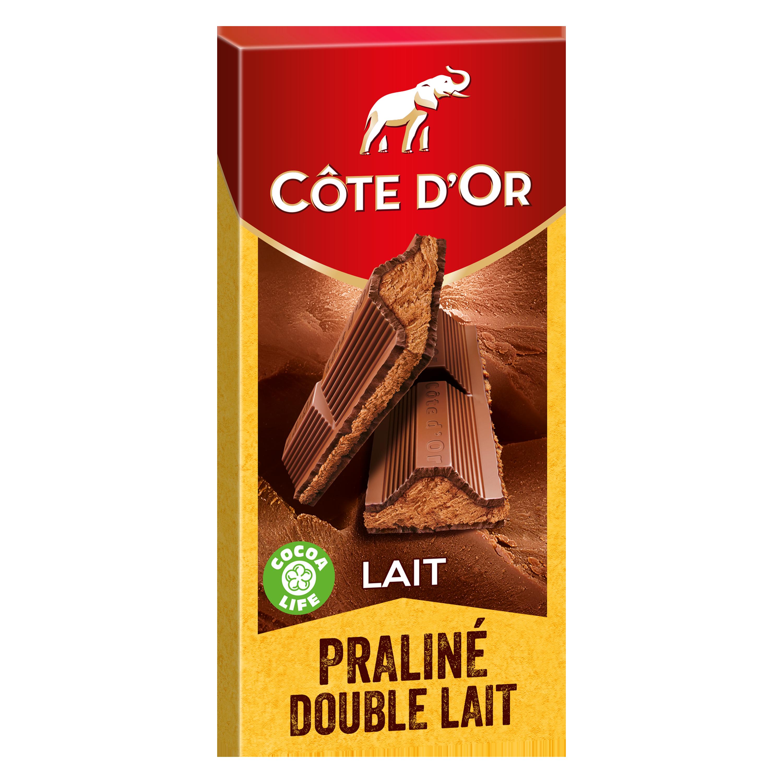 Chocolat au lait fourré au praliné, Côte d'Or (200 g)