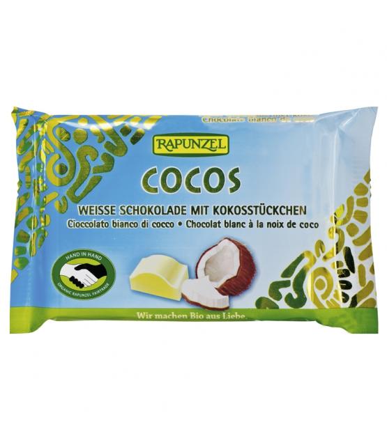 Chocolat blanc à la noix de coco BIO, Rapunzel (100 g)