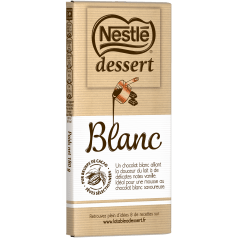 Chocolat blanc à pâtisser, Nestlé dessert (180 g)