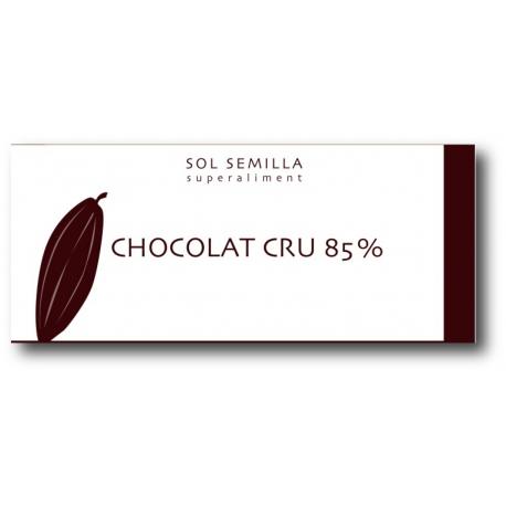 Chocolat cru 85 % BIO, Sol Semilla (38 g)
