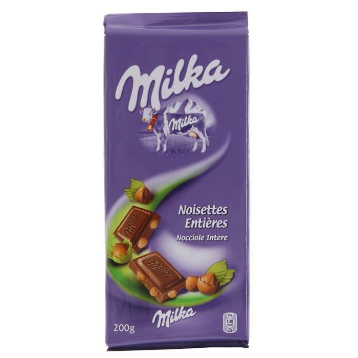 Chocolat au lait & noisettes Milka (2 x 100 g)