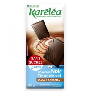 Chocolat noir à la fleur de sel saveur caramel, Lea Nature (100 g)