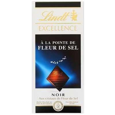 Chocolat noir à la pointe de fleur de sel Lindt LOT DE 2 (2 x 100 g)
