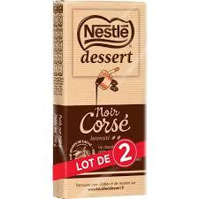 Chocolat noir corsé, Nestlé Dessert (2 x 200 g)