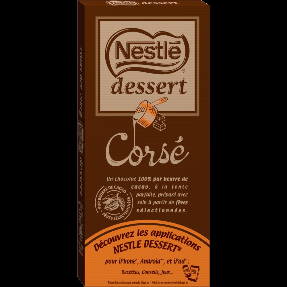 Chocolat noir corsé dessert, Nestlé (200 g)