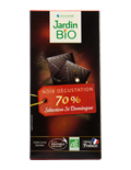 Chocolat noir dégustation 70% de cacao BIO, Jardin Bio (100 g)