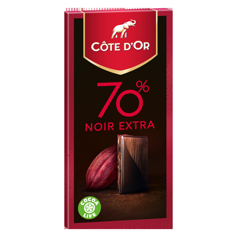 Chocolat noir extra 70% de cacao, Côte d'Or (100 g)