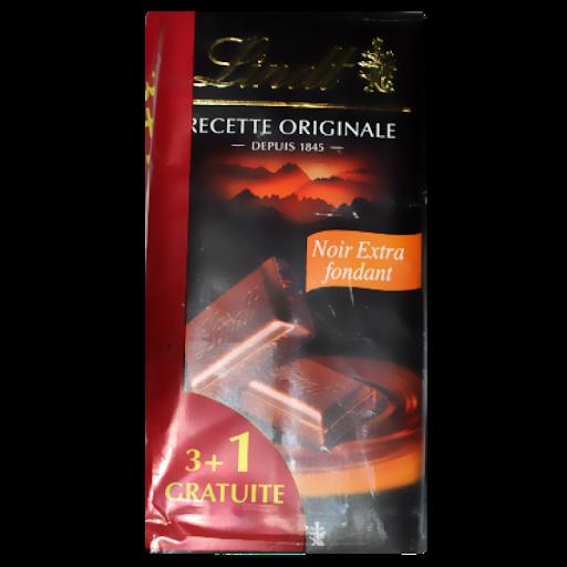 Chocolat noir extra fondant Maitre chocolatier, Lindt OFFRE SPECIALE (3 + 1 OFFERTE x 110 g)