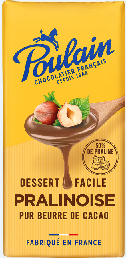 Chocolat pralinoise, Poulain (180 g)
