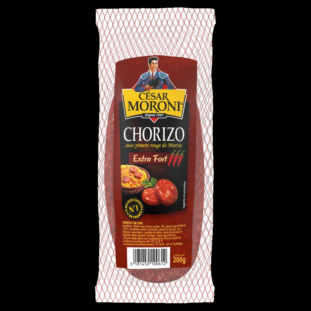 Chorizo extra fort pur porc, Cesar Moroni (200 g)