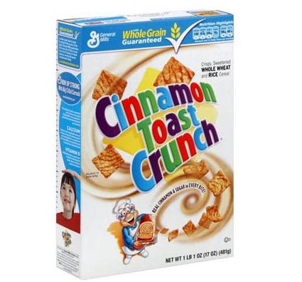 Céréales Cinnamon Toast Crunch, General Mills (362 g)