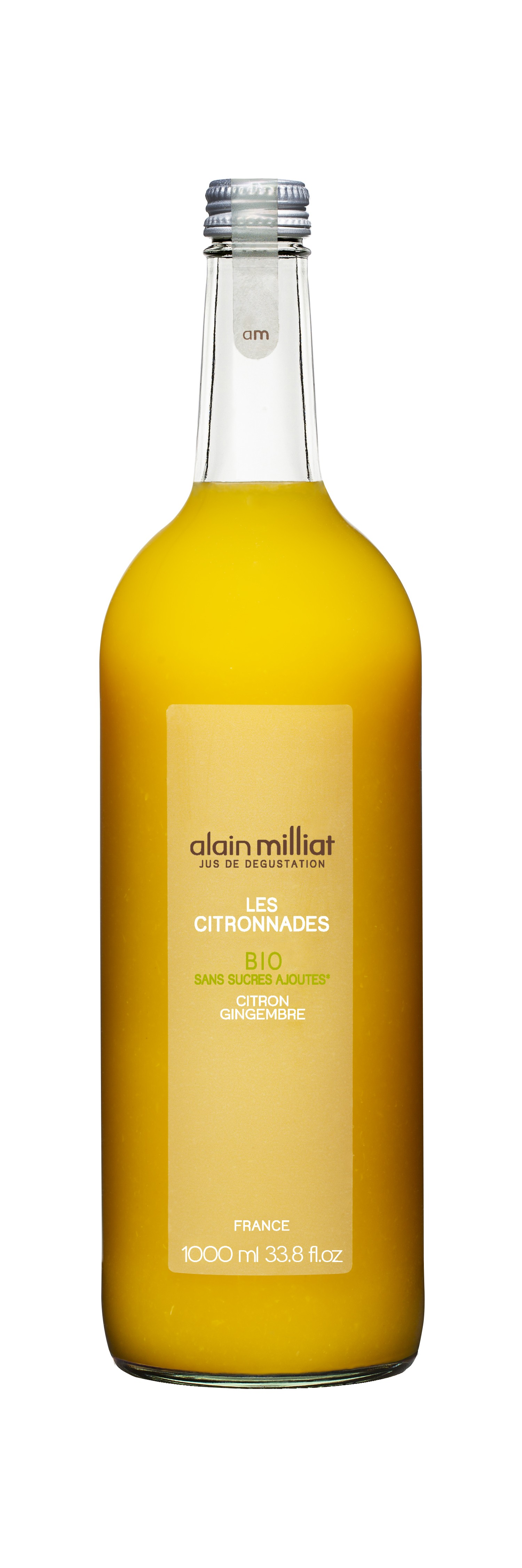 Citronnade Citron - Gingembre BIO, Alain Milliat (1 L)