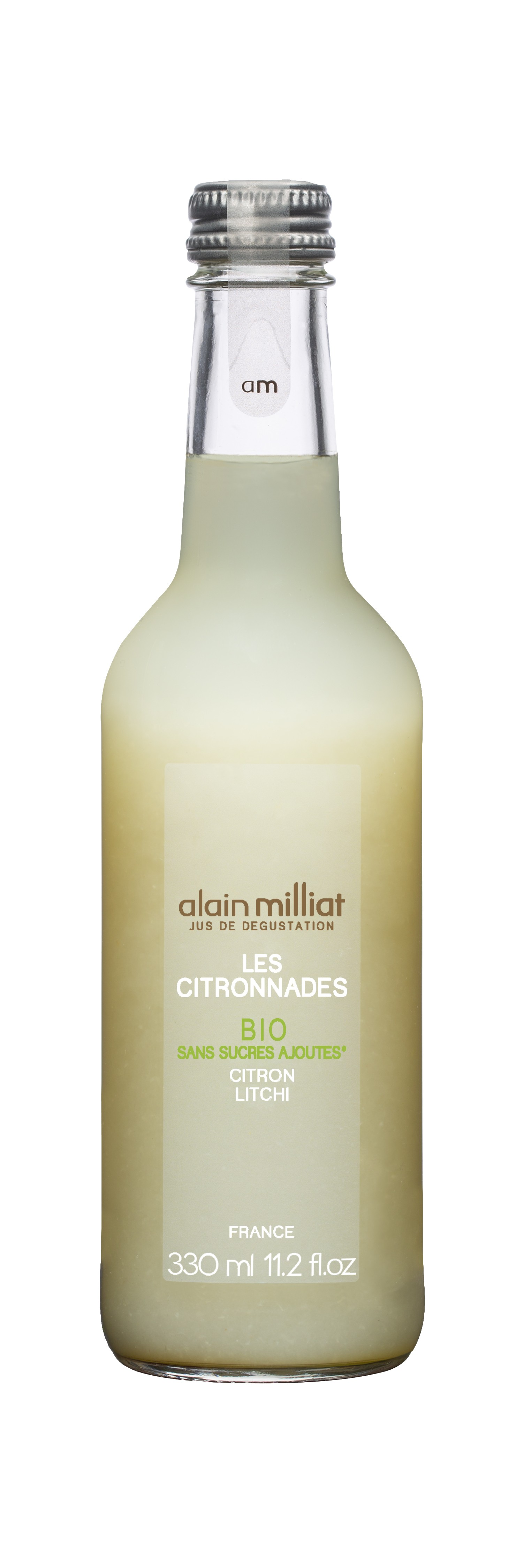 Citronnade Citron - Litchi BIO, Alain Milliat (33 cl)