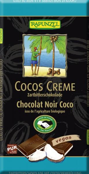 Chocolat noir crème coco BIO, Rapunzel (100 g)
