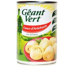 Coeurs d'artichauts, Géant Vert (240 g)