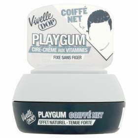 Pot de cire Playgum coiffé net, Vivelle Dop (80 ml)