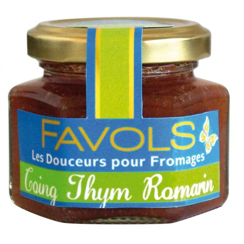 Confiture de coing au thym et romarin, Favols (110 g)