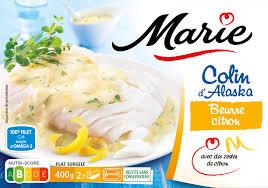 Colin d'Alaska beurre/citron, Marie surgelés (400 g)