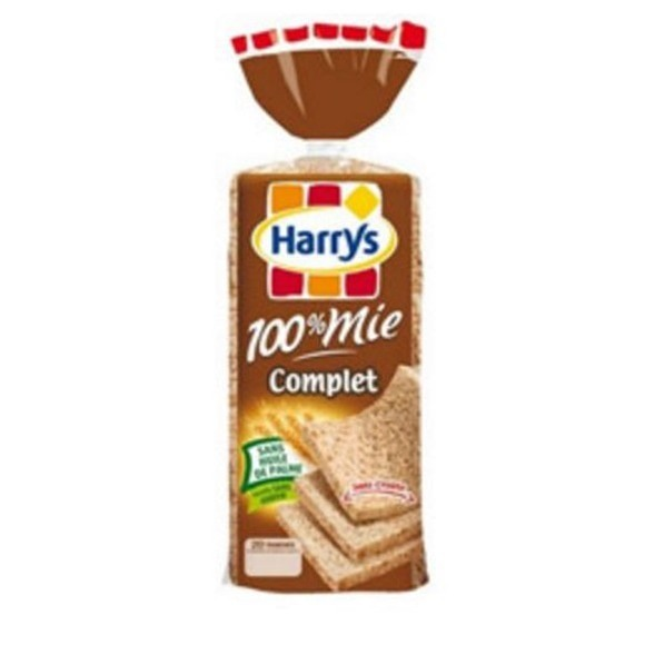 Pain de mie complet 100%, Harry's (500 g)