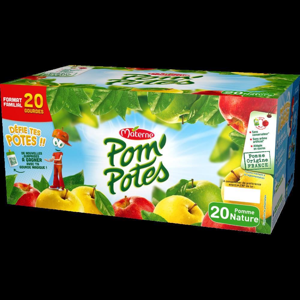 Pom'Potes pomme nature, Materne (20 x 90 g)