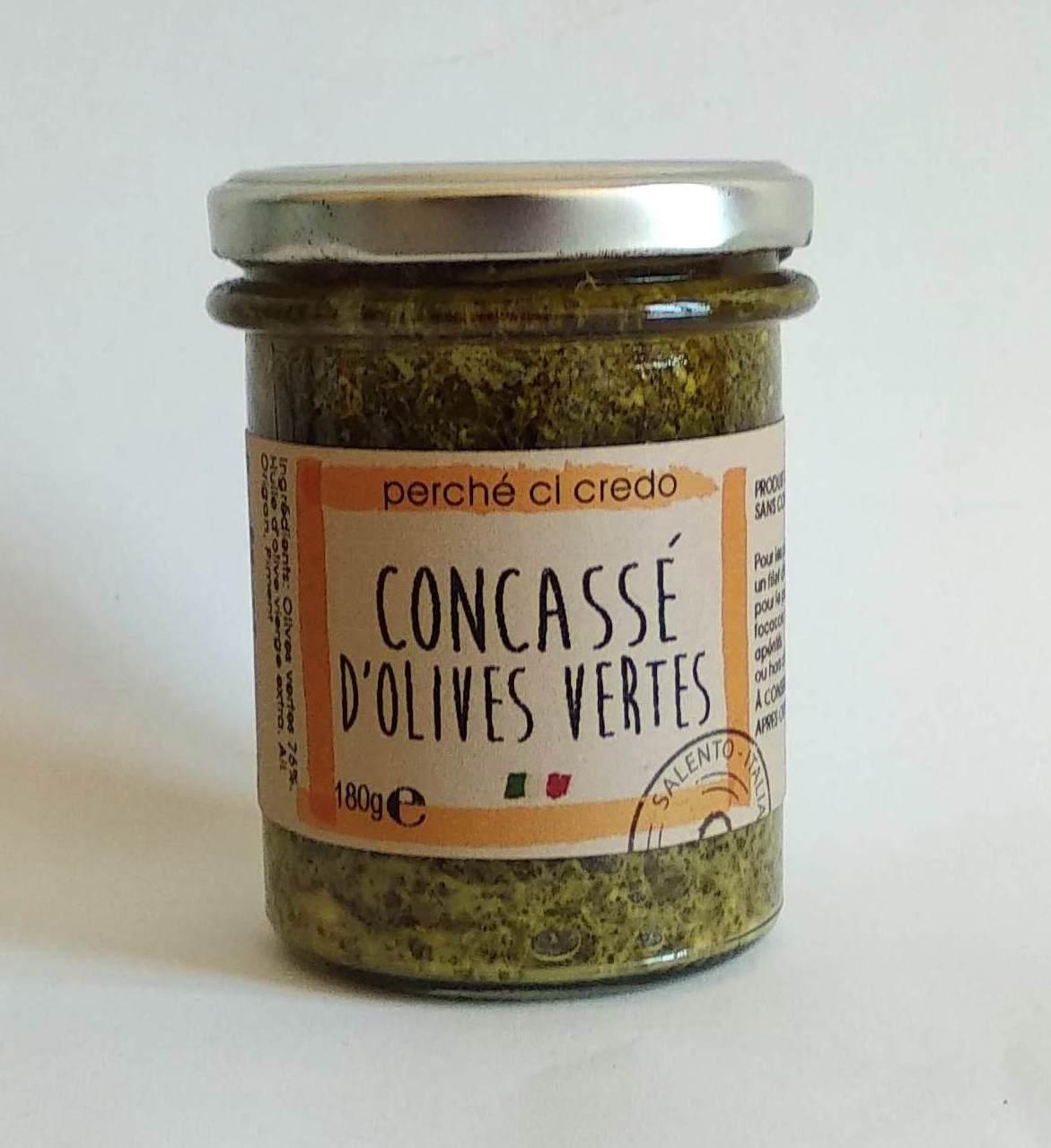 Concassé d'olives vertes, Perche Ci Credo (190 g)