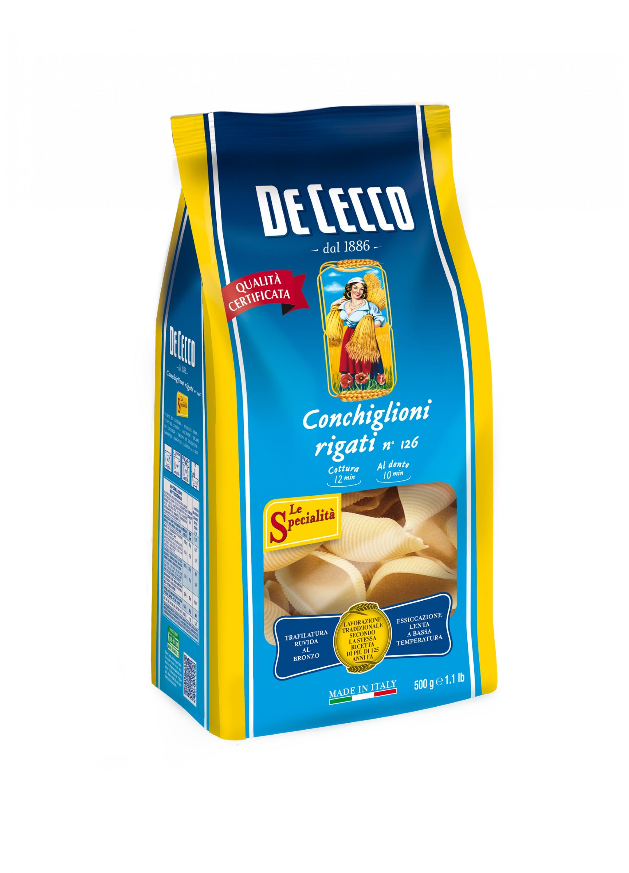 Conchiglioni Rigati n°126, De Cecco (500 g)