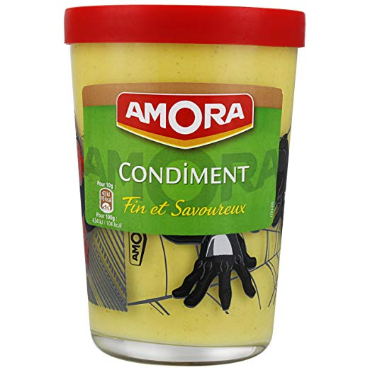Moutarde Condiment verre tv, Amora (190 g)