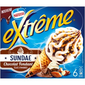 Cône Sundae Chocolat, Extreme (x 6)