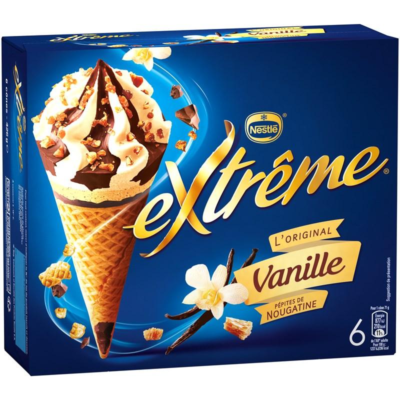 Cône Vanille, Extreme (x 6)