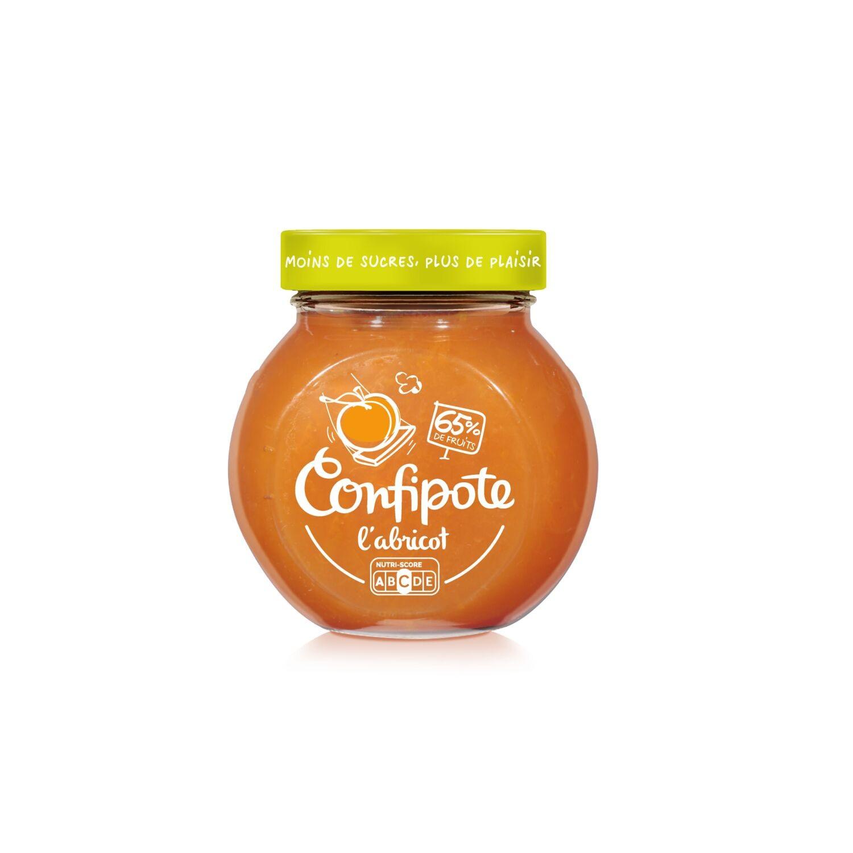Confiture abricot allégée en sucres Confipote, Materne (350 g)