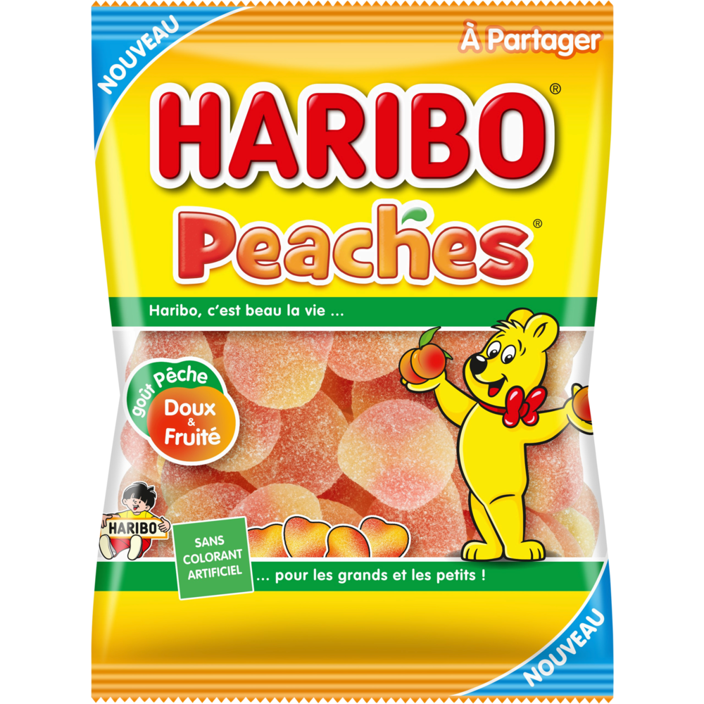 Peaches, Haribo (250 g)