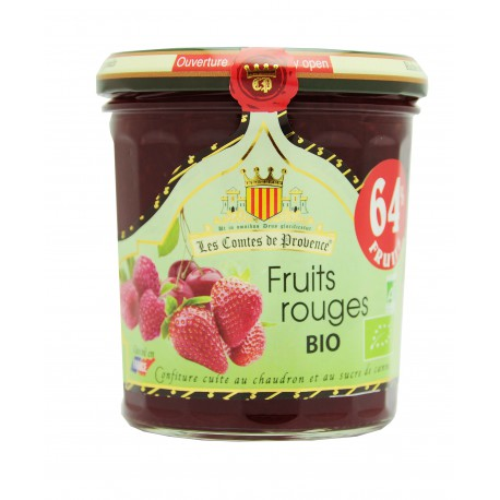 Confiture de fruits rouges BIO, Comtes de Provence (350 g)