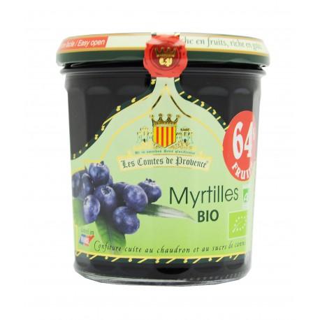 Confiture de myrtilles sauvages BIO, Comtes de Provence (350 g)