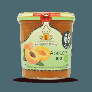 Confiture d'abricots BIO, Les Comtes de Provence (350 g)
