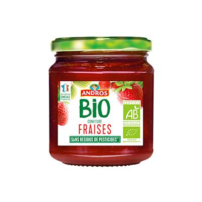 Confiture de fraise BIO, Andros (355 g)